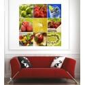 Affiche poster mutifruits