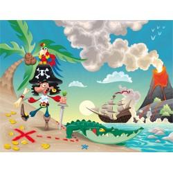 Stickers enfant géant Pirate