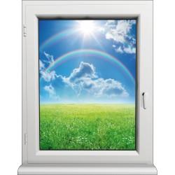 Sticker Fenêtre Arc en Ciel