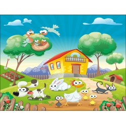 Stickers enfant géant Animaux de la ferme