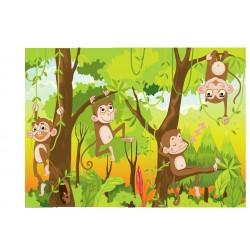 Stickers enfant géant Singes