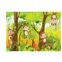 Stickers enfant géant Singes