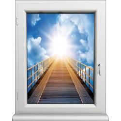 Sticker Fenêtre Vers la Lumière