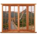 Sticker Fenêtre trompe l'oeil Murail de Chine