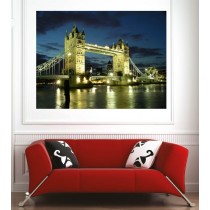 Affiche poster ville London Bridge
