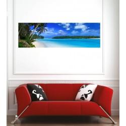 Affiche poster vue panoramique plage