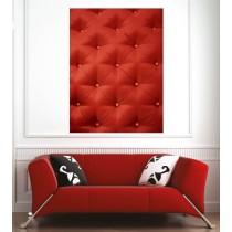Affiche poster capitonnée rouge