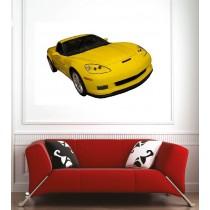 Affiche poster voiture jaune