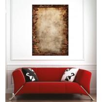 Affiche poster mur en brique