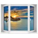 Sticker Fenêtre Vue sur Mer