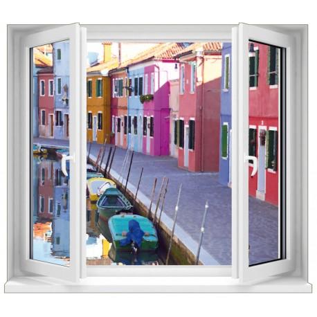 Sticker Fenêtre Venise