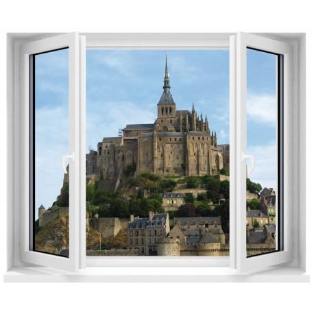 Sticker Fenêtre Mont St Michel