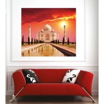 Affiche poster ville Inde Taj Mahal