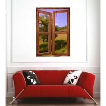 Affiche poster fenêtre prairie