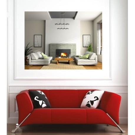 affiche poster salon chemin e art d co stickers. Black Bedroom Furniture Sets. Home Design Ideas