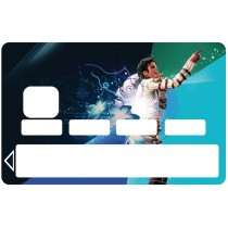 2 Stickers Autocollants Skin Carte de Crédit CB Michael Jackson