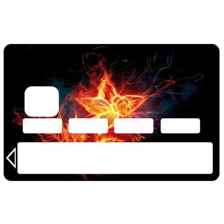 2 Stickers Autocollants Skin Carte de Crédit CB fleur 01