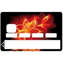 2 Stickers Autocollants Skin Carte de Crédit CB fleur 02