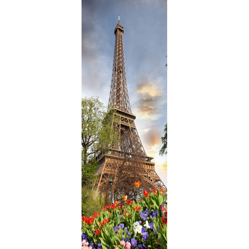 papier peint l unique tour eiffel art d co stickers. Black Bedroom Furniture Sets. Home Design Ideas