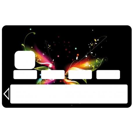 2 Stickers Autocollants Skin Carte de Crédit CB Papillon