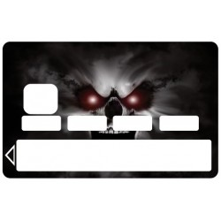 Stickers Autocollants Skin Carte de Crédit CB Skull1