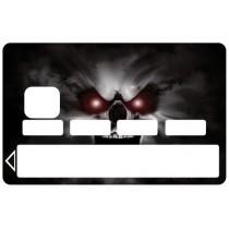 2 Stickers Autocollants Skin Carte de Crédit CB Skull1