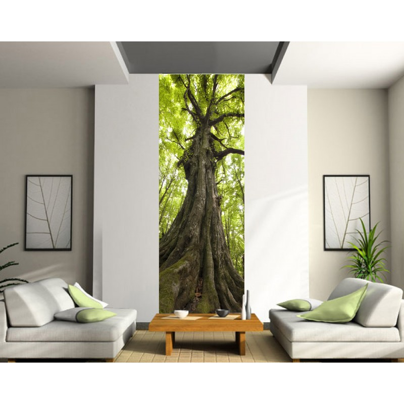 papier peint l unique arbre art d co stickers. Black Bedroom Furniture Sets. Home Design Ideas