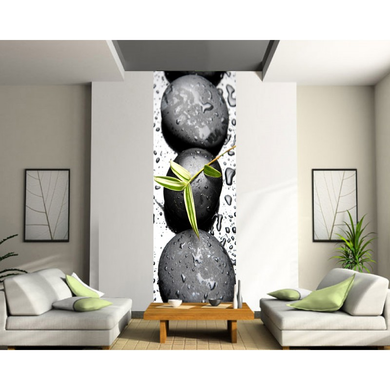 papier peint l unique galets art d co stickers. Black Bedroom Furniture Sets. Home Design Ideas