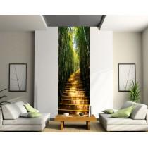 Papier peint lé unique Escaliers bambous