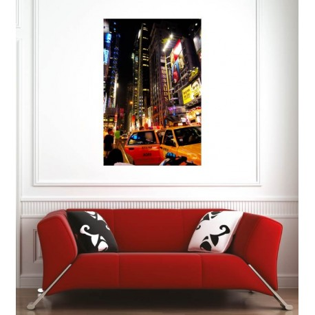 Affiche poster ville New York taxi
