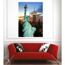 Affiche poster ville New York statue de la liberté