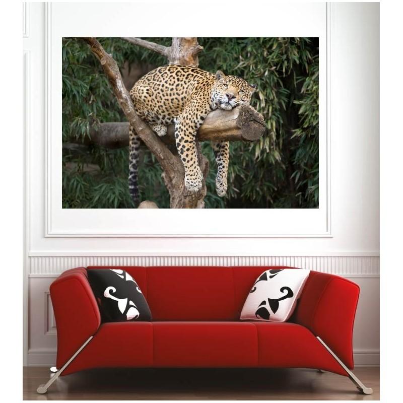affiche poster l opard art d co stickers. Black Bedroom Furniture Sets. Home Design Ideas