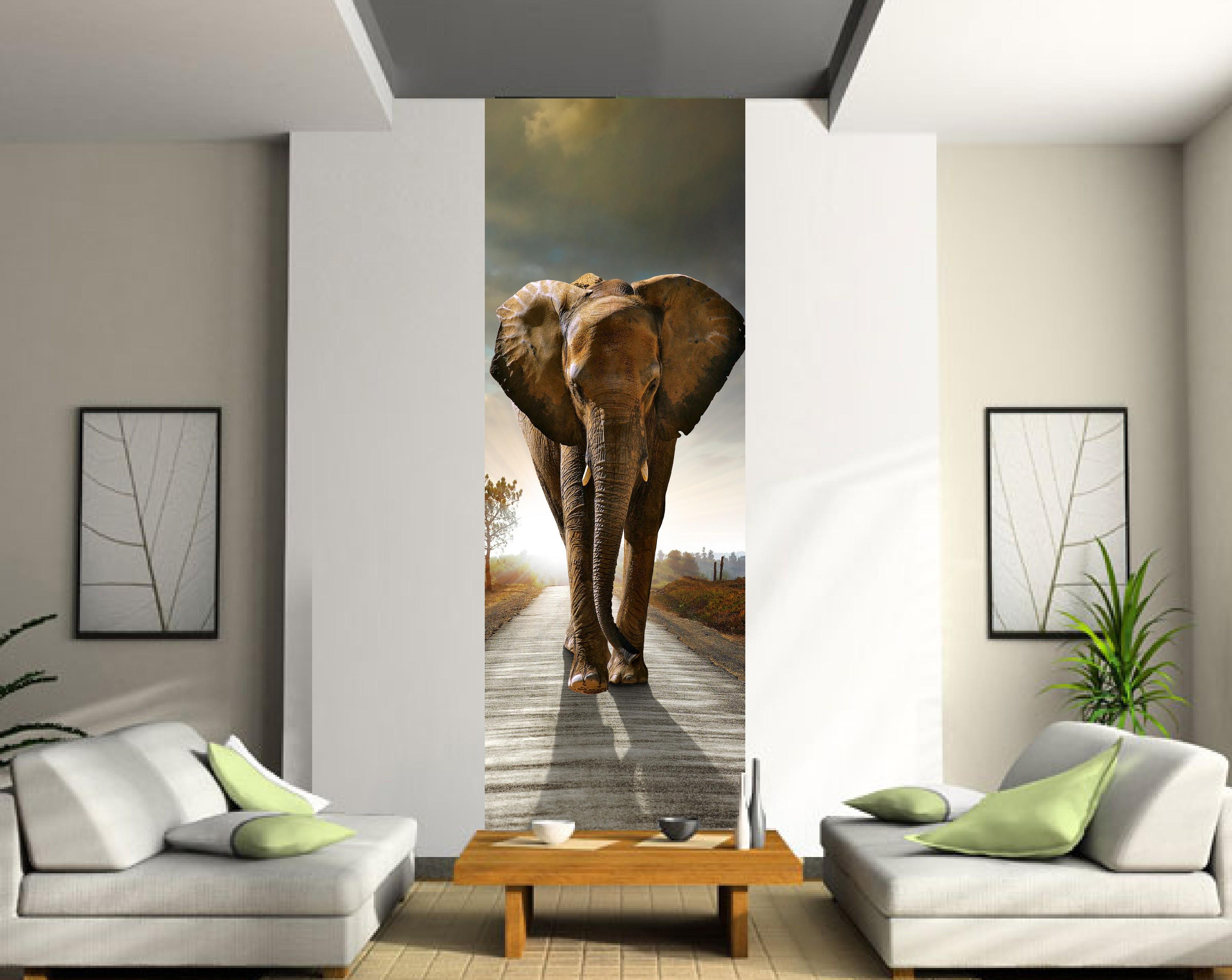 Papier Peint Le Unique Elephant Art Deco Stickers