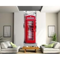 Papier peint lé unique Cabine Téléphonique