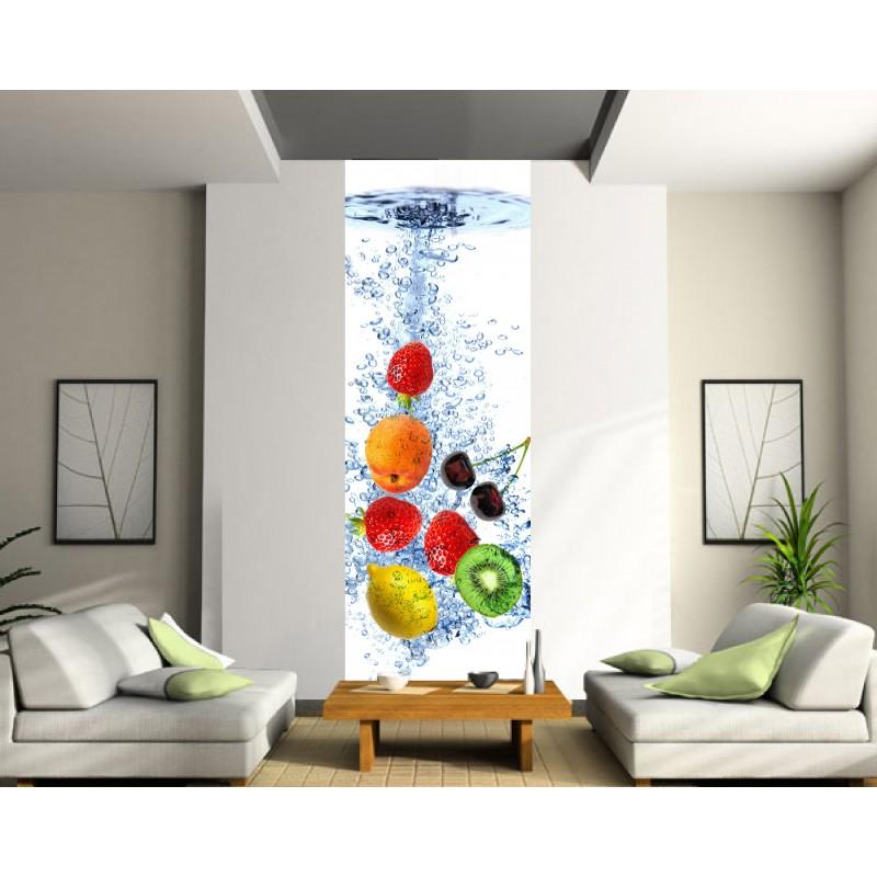 papier peint l unique fruits art d co stickers. Black Bedroom Furniture Sets. Home Design Ideas