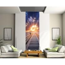 Papier peint lé unique Couché de soleil