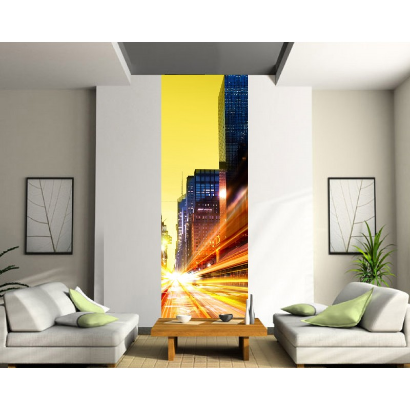 papier peint l unique city art d co stickers. Black Bedroom Furniture Sets. Home Design Ideas