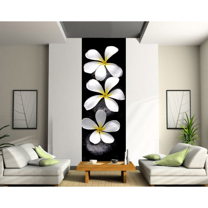 papier peint l unique fleurs art d co stickers. Black Bedroom Furniture Sets. Home Design Ideas