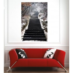 Affiche poster escaliers