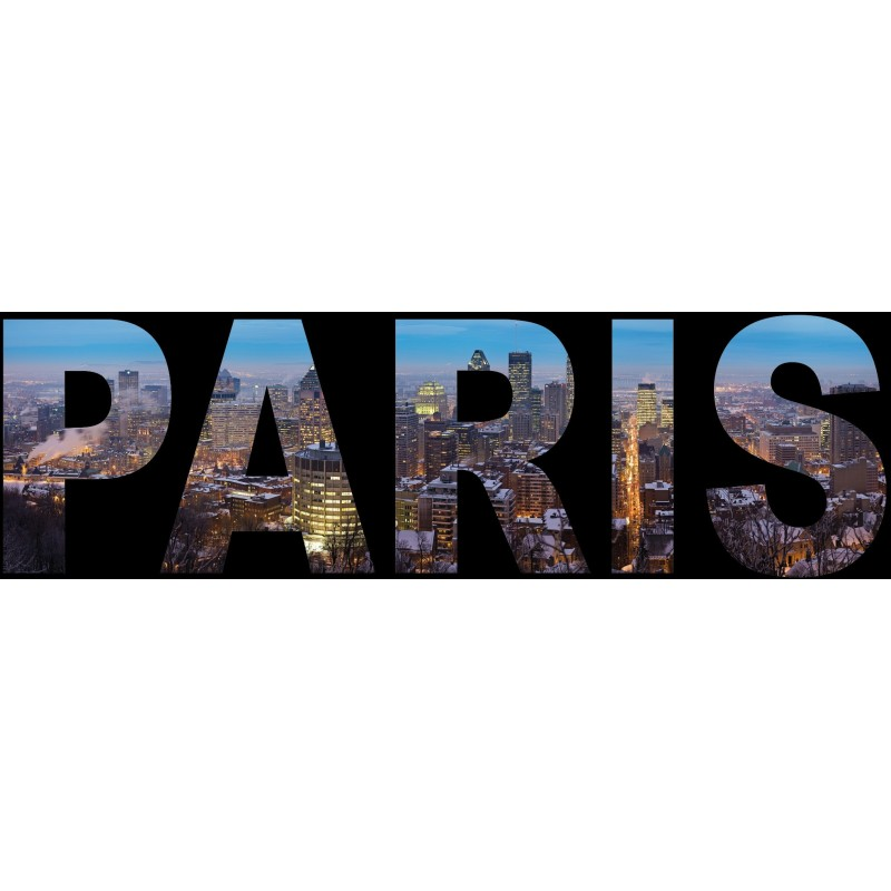 Sticker mural paris art d co stickers - Stickers muraux paris ...