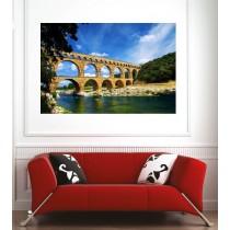 Affiche poster pont du Gard