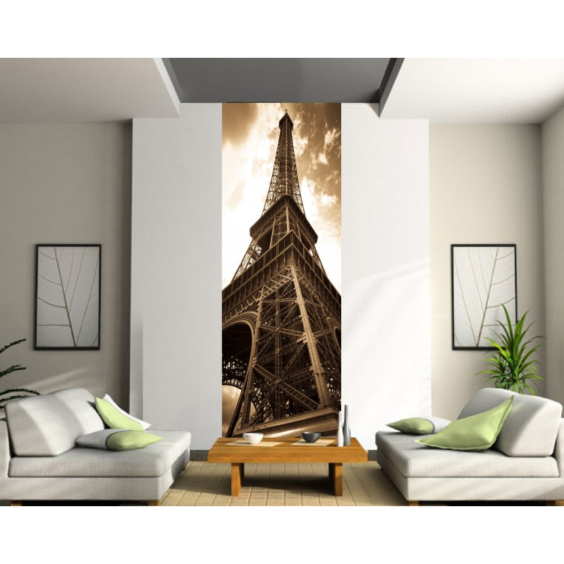 papier peint l unique tour eiffel s pia art d co stickers. Black Bedroom Furniture Sets. Home Design Ideas