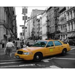 Sticker Mural New York Taxi