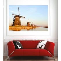 Affiche poster moulins à vent