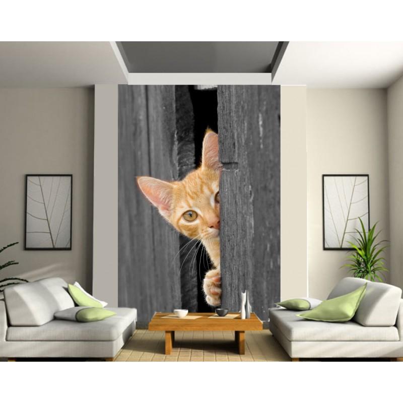 papier peint g ant chat art d co stickers. Black Bedroom Furniture Sets. Home Design Ideas