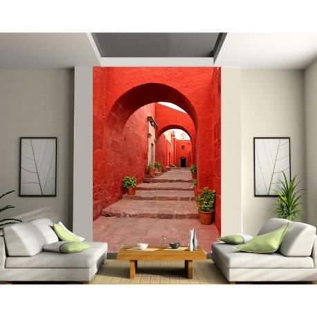 papier peint g ant ruelle art d co stickers. Black Bedroom Furniture Sets. Home Design Ideas