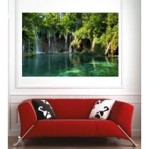 Affiche poster rivière cascade