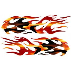 2 Stickers Flaming Tuning