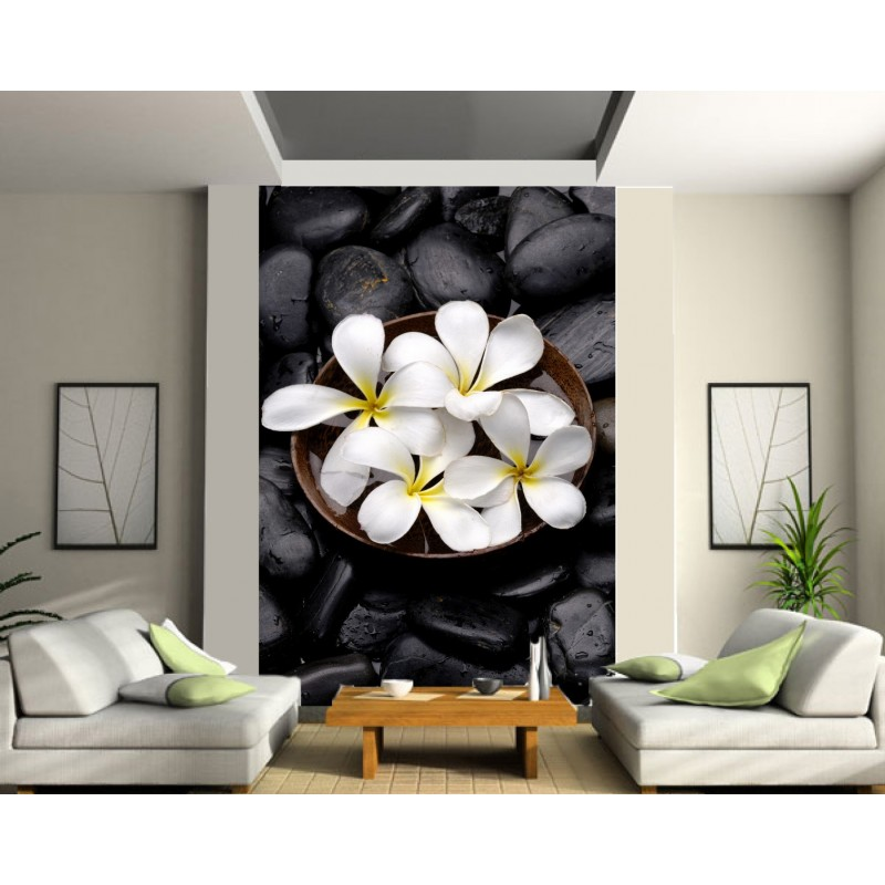 papier peint g ant fleurs art d co stickers. Black Bedroom Furniture Sets. Home Design Ideas