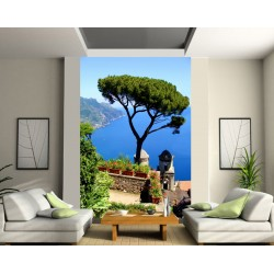 papier peint g ant arbre mer art d co stickers. Black Bedroom Furniture Sets. Home Design Ideas